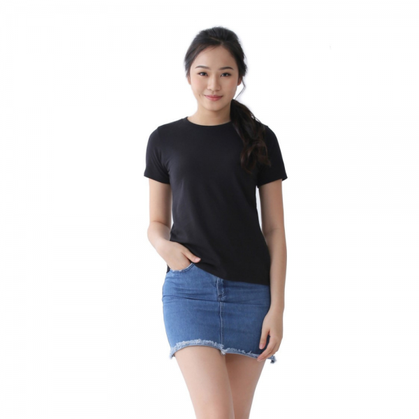 Women Supima Relaxed Fit Jet Black-0