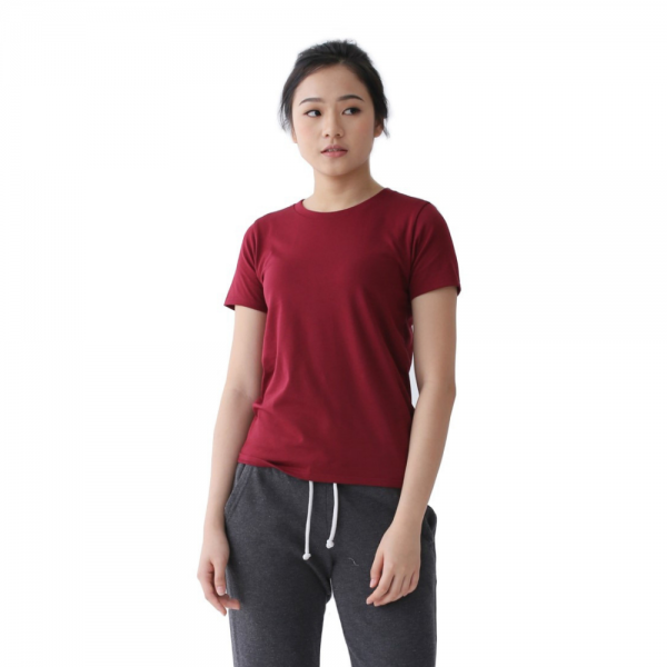 Women Supima Relaxed Fit Maroon-0