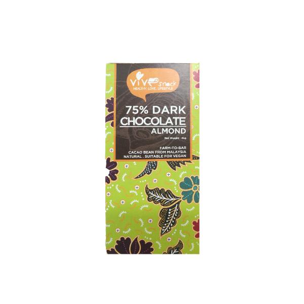 75% Dark Chocolate Bar (Almond) (45g)-0