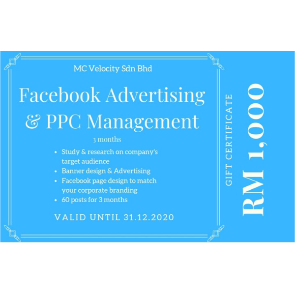 3-Mth Facebook Ad and PPC Management Gift Cert-0