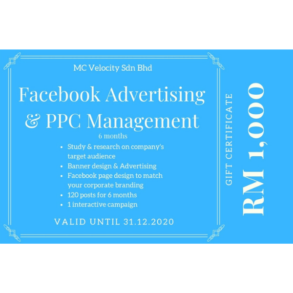 6-Mth Facebook Ad and PPC Management Gift Cert-0