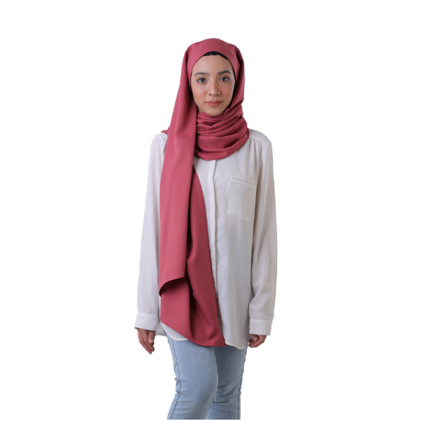 POTDS Basic Shawl (Raspberry Red)-0
